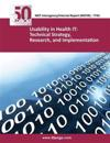Nistir 7743 Usability in Health It: Technical Strategy, Research, and Implementation