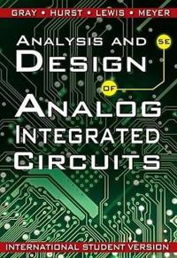Analysis and Design of Analog Integrated Circuits, International Student Ve