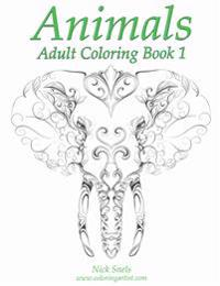 Animals Adult Coloring Book 1