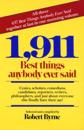 1911 Best Things Anybody Ever Said