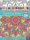 Coloring Books for Grown-Ups: Flowers Mandala Coloring Book (Intricate Mandala Coloring Books for Adults) Volume 1