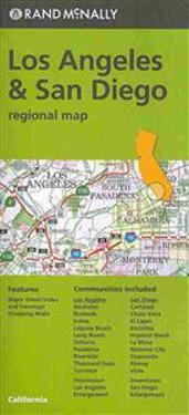 Rand McNally Los Angeles & San Diego, California Regional Map