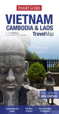 Insight Travel Map: Vietnam, Cambodia & Laos