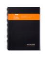 Whitelines Wire A5 Squared Notebook, Black