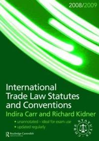 International Trade Law: Statutes and Conventions