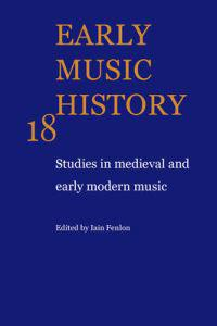 Studies in Medieval and Early Modern Music