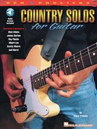 Country Solos for Guitar: Reh * Prolicks Series [With CD with Full Demostrations & Rythm-Only Tracks]
