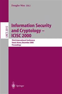 Information Security and Cryptology  Icisc 2000