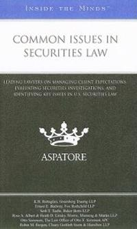 Common Issues in Securities Law