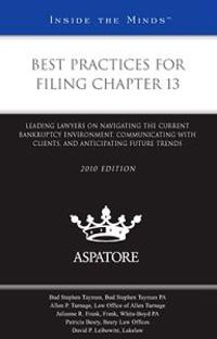 Best Practices for Filing Chapter 13, 2010