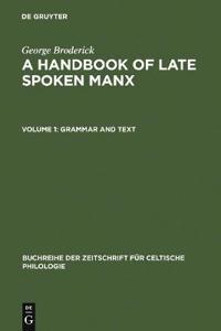 Handbook of Late Spoken Manx