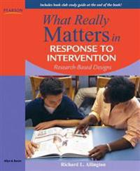 What Really Matters in Response to Intervention