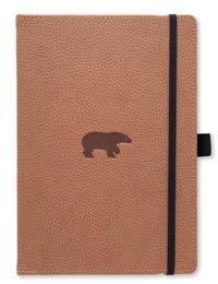 Dingbats* Wildlife A5+ Brown Bear Notebook – Plain
