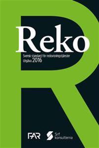 Reko - Svensk standard för redovisningstjänster 2016