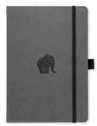 Dingbats* Wildlife A5+ Grey Elephant Notebook – Plain