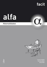 Matematikboken Alfa Facit
