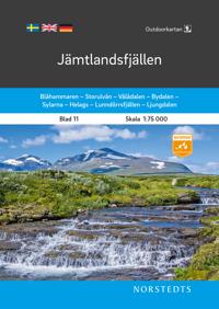 Outdoorkartan Jämtlandsfjällen : Blad 11 Skala 1:75 000