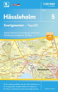 5 Hässleholm Sverigeserien Topo50 : Skala 1:50 000