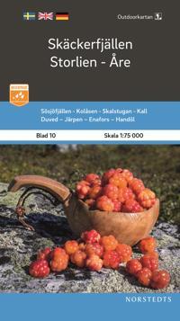 Outdoorkartan Skäckerfjällen Storlien Åre : Blad 10 Skala 1:75 000