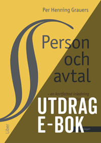 Person och avtal -Utdrag Personrätt