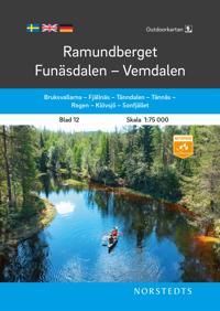 Outdoorkartan Ramundberget Funäsdalen Vemdalen : Blad 12 Skala 1:75 000