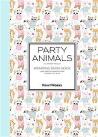 Party Animals – 12 presentpapper i bokform