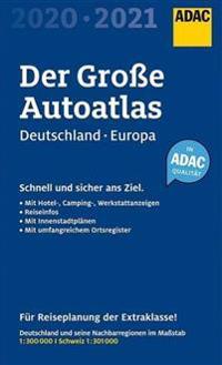 Bilde av Großer Adac Autoatlas 2020/2021, Deutschland 1:300 000, Europa 1:750 000
