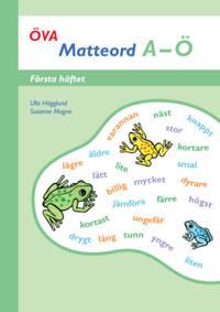 Öva Matteord A-Ö Första häftet
