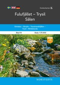 Outdoorkartan Fulufjället Trysil Sälen : Blad 14 Skala 1:75 000