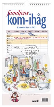 Familjens kom-ihåg-kalender 2021