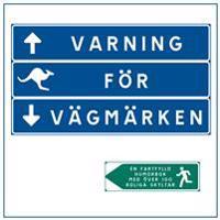 Varning för vägmärken