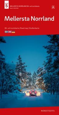 Mellersta Norrland Bil & Turistkarta Nr 5 : Skala 1:400.000
