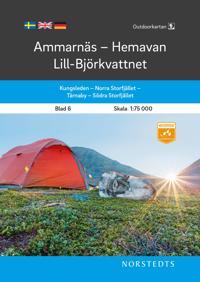 Outdoorkartan Ammarnäs Hemavan Lill-Björkvattnet : Blad 6 Skala 1:75 000