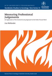 Bilde av Measuring Professional Judgements : An Application Of The Factorial Survey Approach To The Field Of Social Work