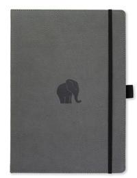 Dingbats* Wildlife A4+ Grey Elephant Notebook – Plain