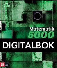 Matematik 5000 Kurs 1b Grön Lärobok Interaktiv 12 mån