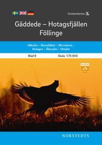 Outdoorkartan Gäddede Hotagsfjällen Föllinge : Blad 9 Skala 1:75 000