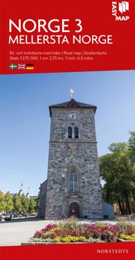 Mellersta Norge EasyMap : Skala 1:275.000