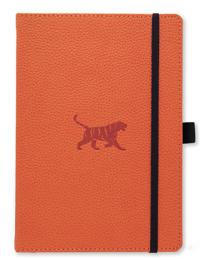 Dingbats* Wildlife A5+ Orange Tiger Notebook – Plain