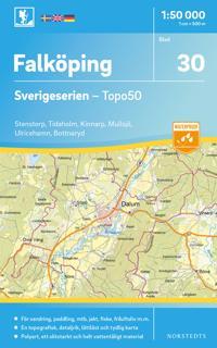 30 Falköping Sverigeserien Topo50 : Skala 1:50 000