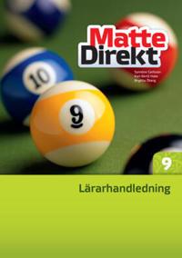 Matte Direkt 9 Lärarhandledning inkl. cd